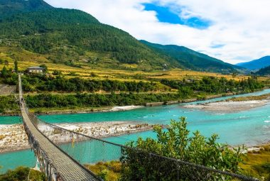 Punakha Suspension Bridge and Villages